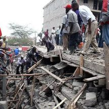 A six storey building collapse in Huruma