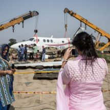 India plane wreckage becomes tourist attraction