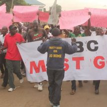 Anti-IEBC march by CORD supporters still on