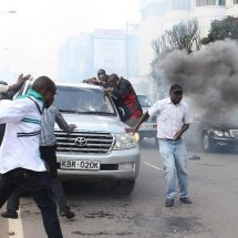 Raila's car hit as Cord goes to court to remove IEBC