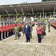 Museveni Sworn in for the fifth term in office.