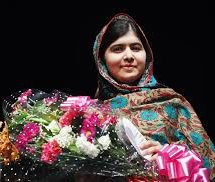 Nobel Prize winner Malala in world's largest refugee camp