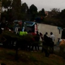 Bus Overturns in Nairobi leaving 18 Injured