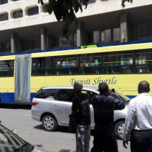 A new giant bus rocks Nairobi streets