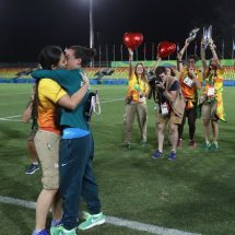 Olympic athlete Isadora Cerullo gets engaged to girlfriend on rugby field