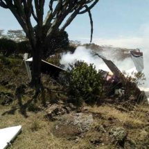 One killed and five injured  after aircraft burst into flames