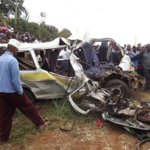 Three dead after Matatu collides with a trailer