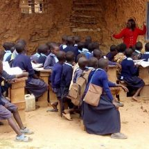 Pokot students learn outdoors as 11 mud classes pulled down