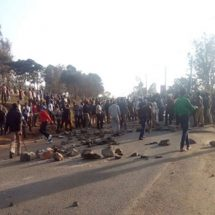 Rongai commuters stranded as MMU students block roads protesting Sunday accident
