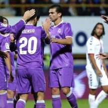 Real Madrid demolish Cultural Leonesa 7-1.