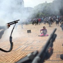 Protesting students clash with police in South Africa