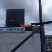Supermarket goes on flames