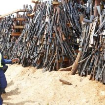 Government destroy 5,250 illicit small arms and light weapons