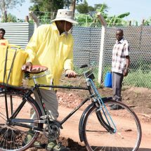 Museveni  motorcade temporarily replaced with bicycle