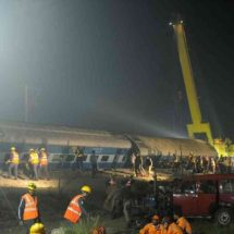 Rescuers work overnight to find survivors after deadly train crash