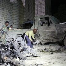 Car bomb blast kills soldiers near Somali parliament