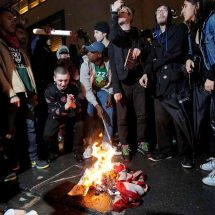 Dozens take to streets of U.S. cities to protest against Trump victory
