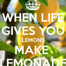 """When life gives you lemons, make lemonade"""