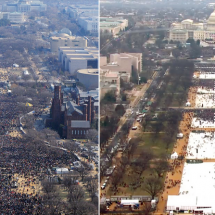 Take a look at those pictures, debate on inauguration crowd size become tough