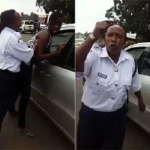 Female police officer filmed harassing a female at checkpoint