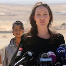 Angelina Jolie today continue her support for victims of sexual violence