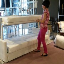 Couch by day, bed at night; incredible technology idea to save space at home
