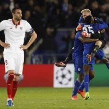 Revitalised Leicester stun Sevilla to reach quarter-finals