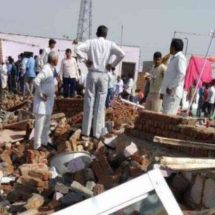 A minimum of 22 killed by collapsing wall at Indian wedding