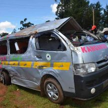 Kitale-Eldoret highway accident leave two dead and 12 injured