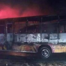Umoinner matatu set on blaze after hitting pedestrian on Jogoo road