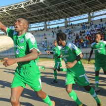 Gor players celebrate after winning against their rivals AFC Leopards
