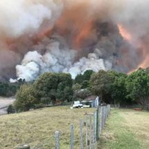 10,000 evacuated as fire rages in SA coastal resort