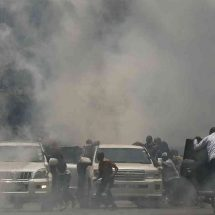 Police fire teargas as NASA supporter clash with Nairobi business community
