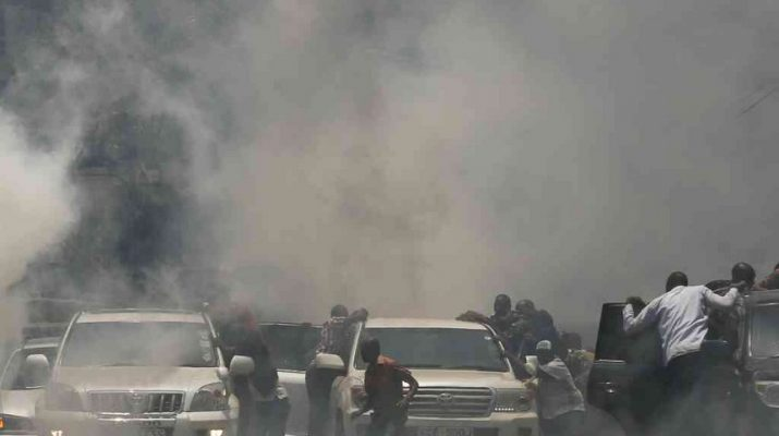 Police fire teargas as NASA supporters, Nairobi business community clash