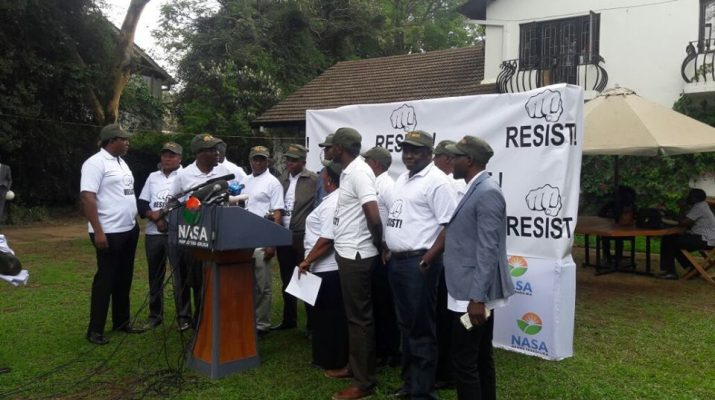 National Resistance Movement MPs during press conference