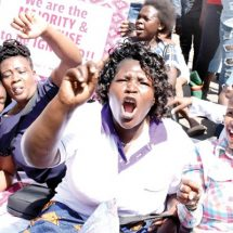 KNH workers, activists standoff