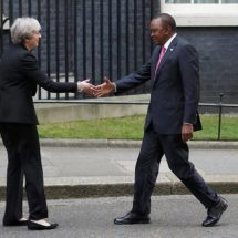 Britain's Prime Minister Theresa May in Kenya