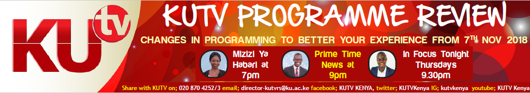 Kenyatta University TV (KUTV). All Rights Reserved.
