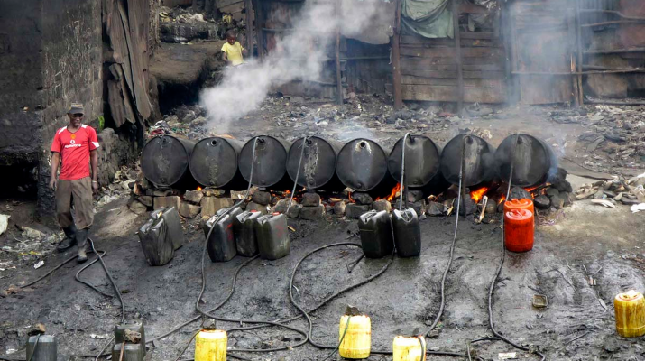 A photo of illicit brew