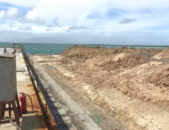 Ksh 40billions Lamu Port First Berth Complete and Receive First Ship